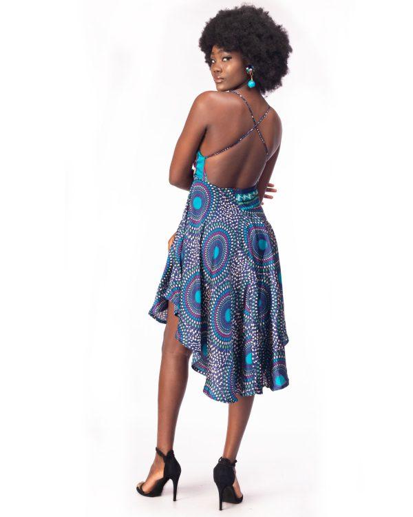 Silk Backless Dress